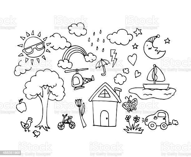 Vector of hand drawn sketch doodles in baby draw concept vector id488381968?b=1&k=6&m=488381968&s=612x612&h= mzqj5t5nipsfc2ujoyg3uejkd3qtzxtpmrlnt2t1bu=