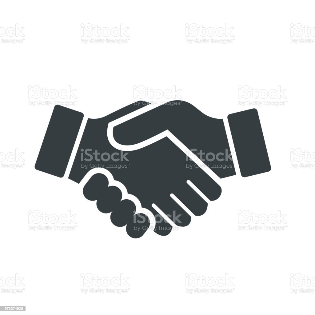 Vector of Handshake Icon - vector iconic design royalty-free vector of handshake icon vector iconic design stock illustration - download image now