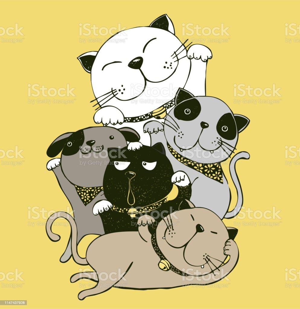 maneki-neko,cat,kitten