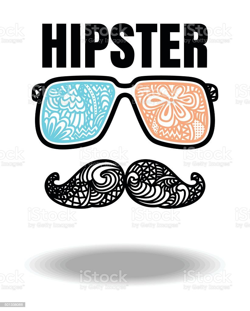 Vector of hipster style.hipster man fashion on white b vector art illustration