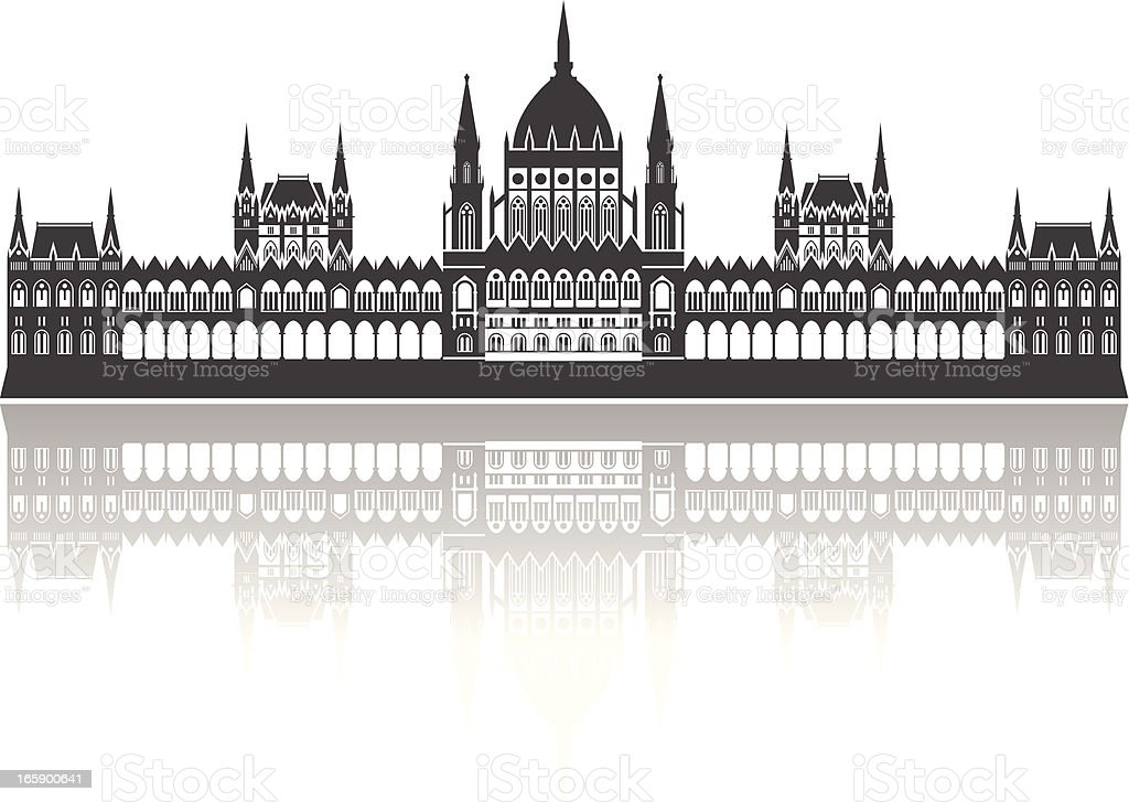 Vector of Hungarian Parliament Building, Budapest vector art illustration