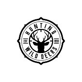 Vector of hunting club labels, badges and design elements - Vector