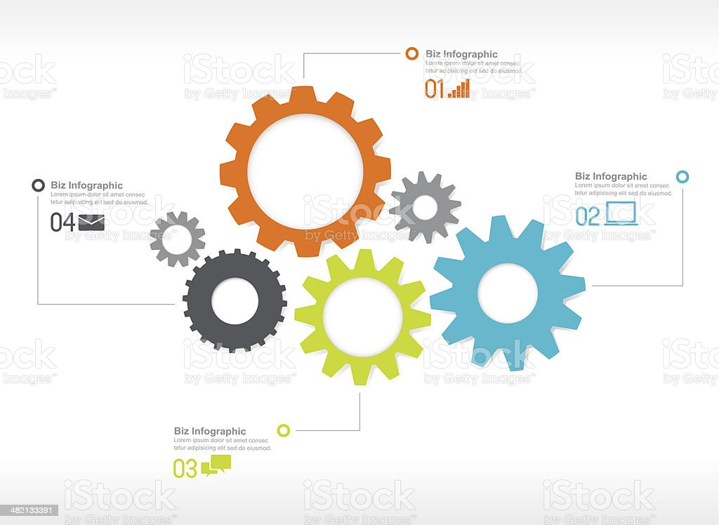 Vector of Infographics vector art illustration