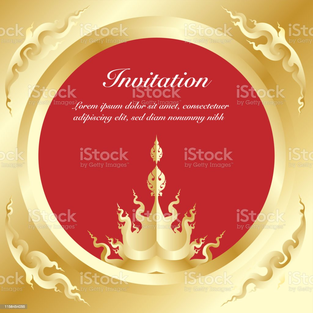 Vector Of Invitation Card Template Background And Frame