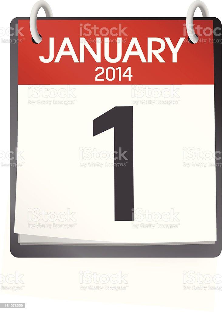 Vector of January Calendar royalty-free stock vector art