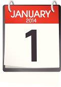 Vector of January Calendar
