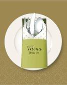 Vector of Kitchen utensils concept