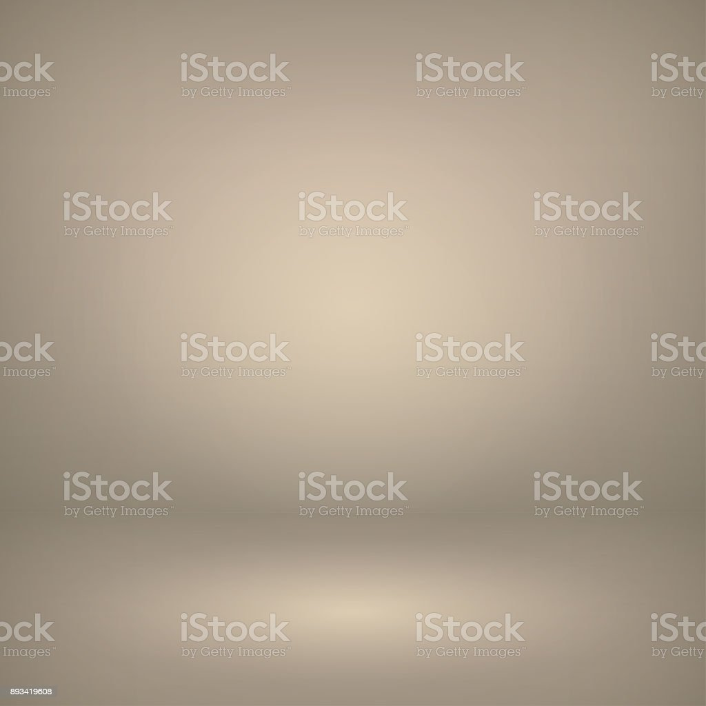 Vector of light beige (ivory) empty studio room background, template mock up for display of content or product. vector art illustration