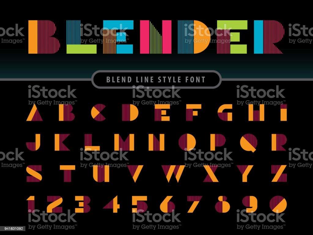 81b21658a Vetor de Fontes Vetoriais De Linear Moderno Alfabeto Letras E ...