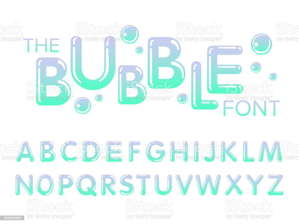 Vector de modernas fuentes estilizadas y alfabeto - ilustración de arte vectorial