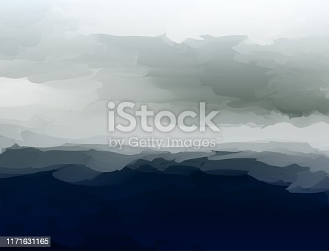 vector of mountain cloudy landscape pattern background