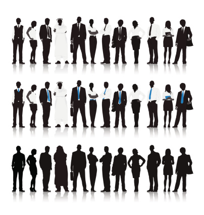 Vector of Multi-ethnic Business people