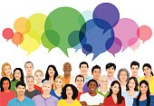 Vector of Multiethnic Diverse Cheerful People