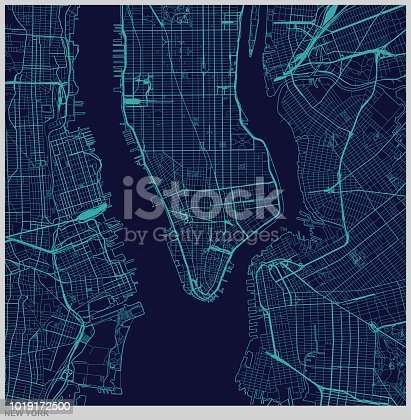 vector of New York city map illustration