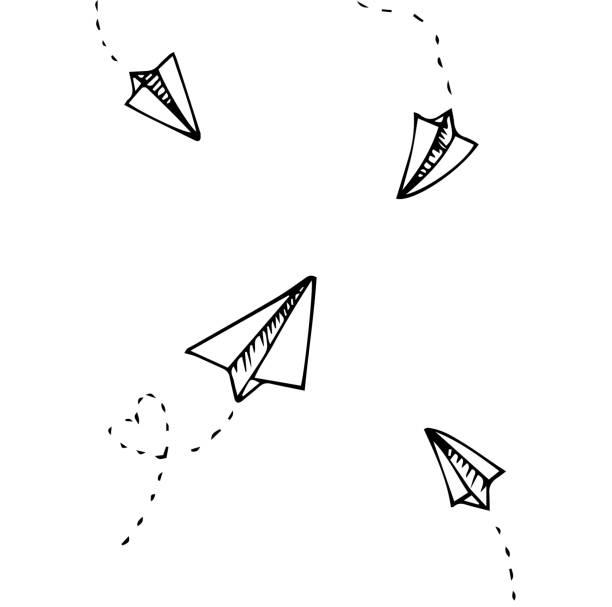 Vector of Paper plane Vector of Paper plane paper airplane stock illustrations