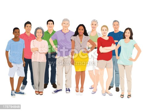 istock Vector of People Group 175794848