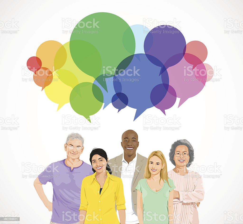 Vector of People Social Networking vector art illustration