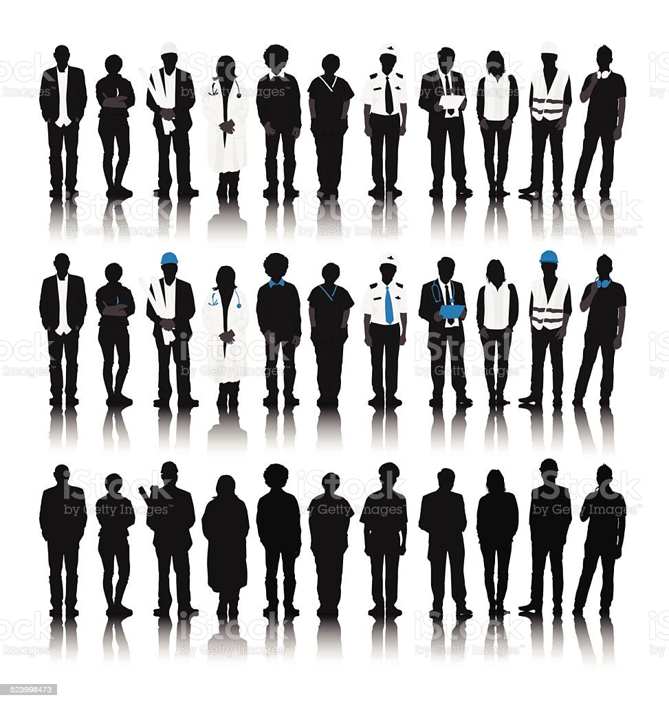 Vector of People with Various Occupations vector art illustration