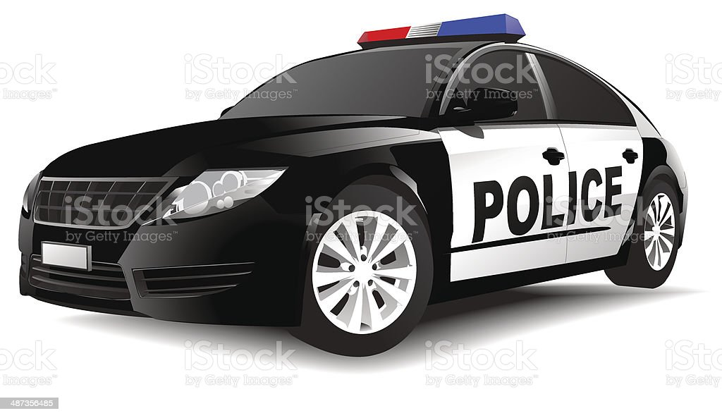 Vector of Police Car vector art illustration
