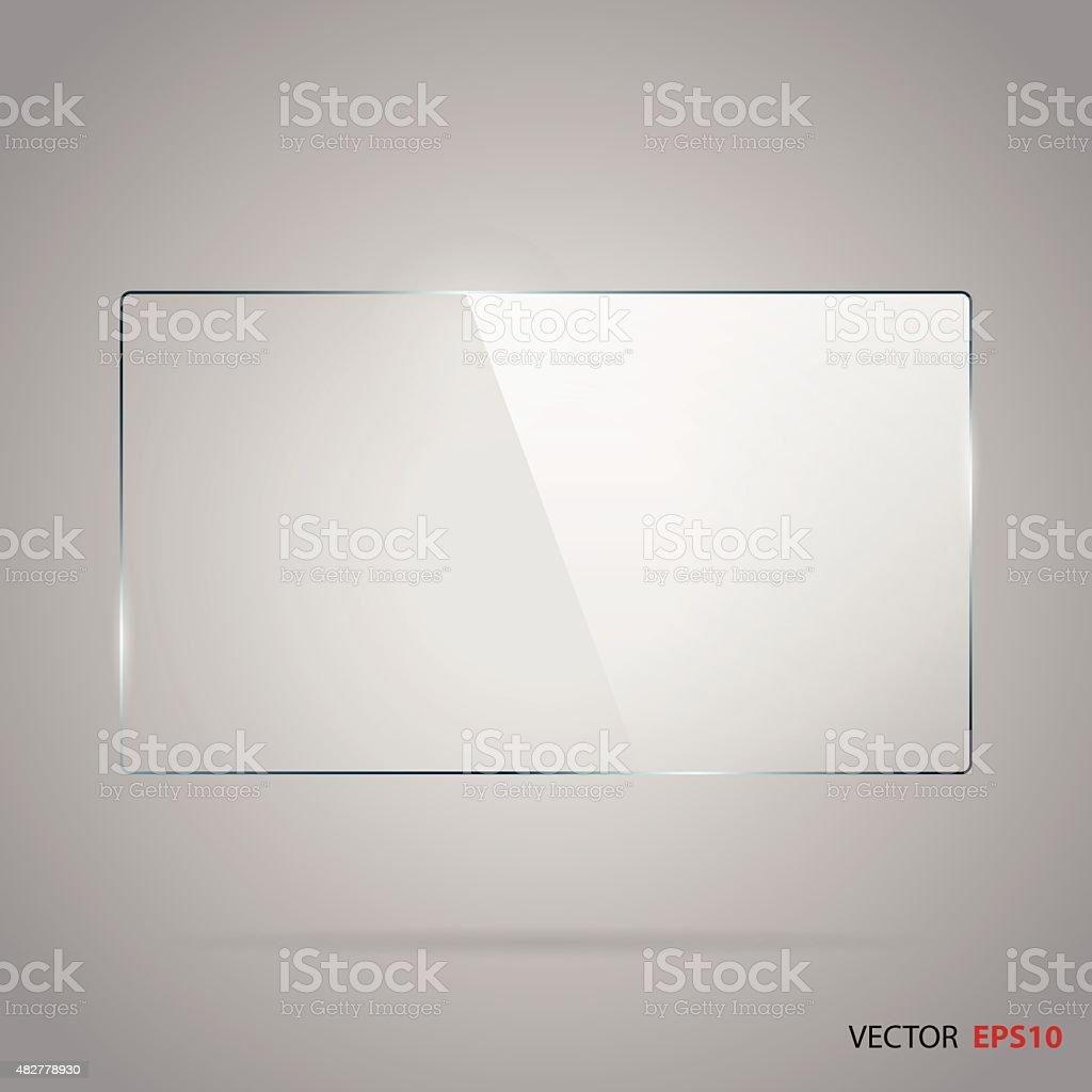 Vector of rectangle glass frame. vector art illustration