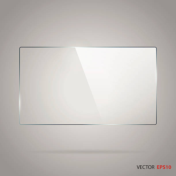Vector of rectangle glass frame. Vector of rectangle glass frame with space for your text. glass material stock illustrations