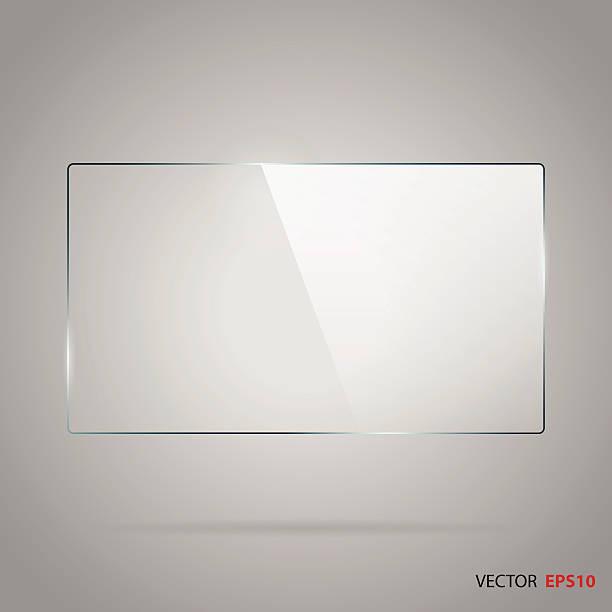 ilustrações de stock, clip art, desenhos animados e ícones de rectângulo vetor de moldura de vidro. - na superfície