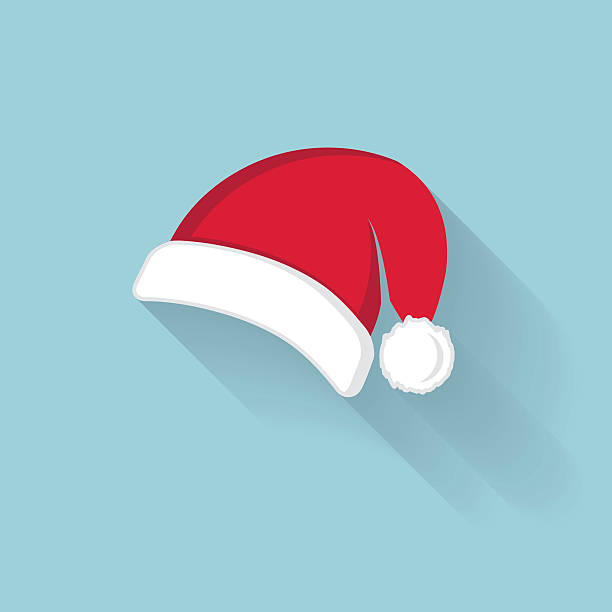 Vector of red Santa Claus hat Vector of red Santa Claus hat santa hat stock illustrations