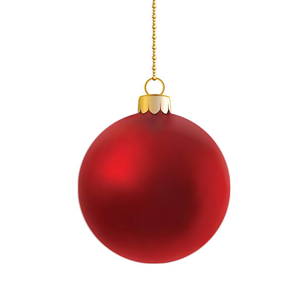 Vector of red satin bauble on gold chain. vector art illustration