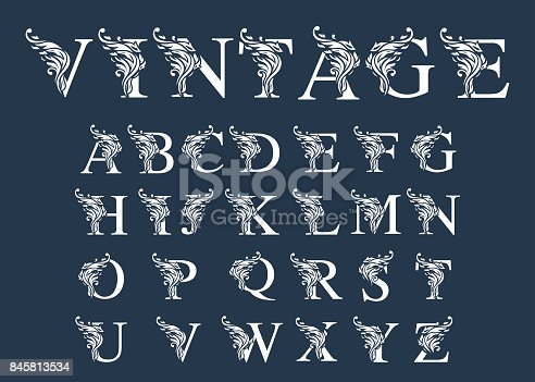 Retro font, and alphabet .Hand-lettering and typography isolated for your designs: logo, for poster, banner, card.