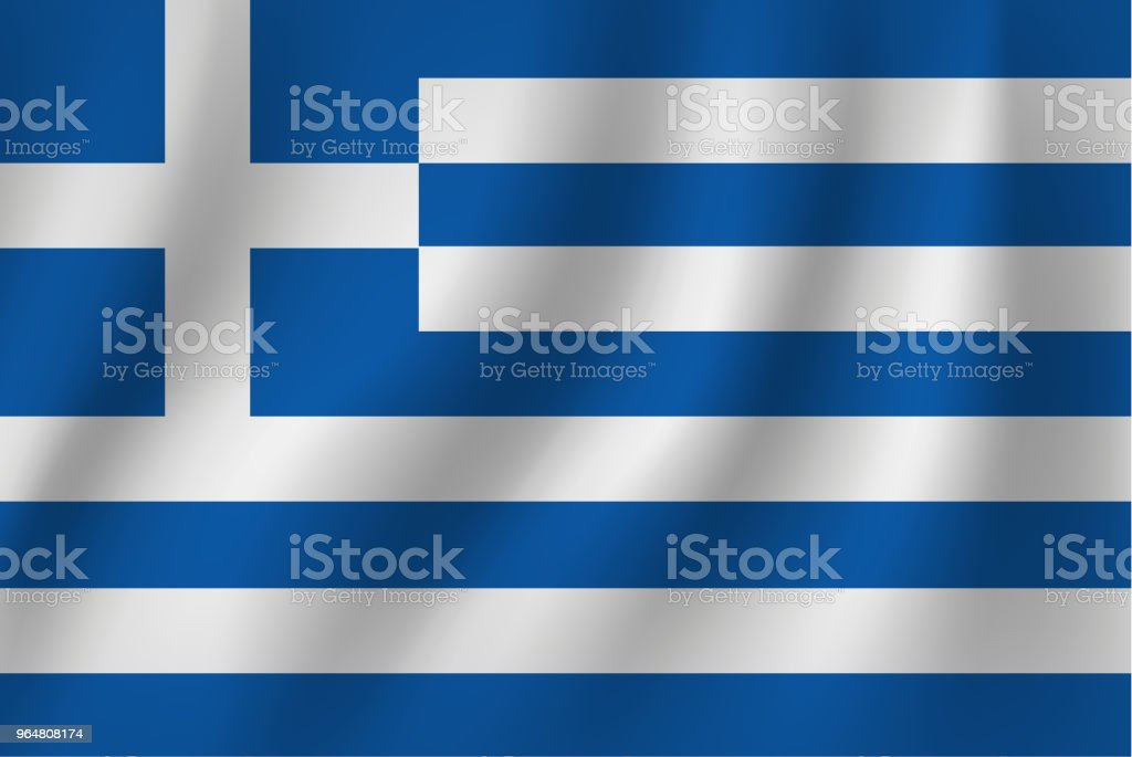 vector of ripple greece flag-01 royalty-free vector of ripple greece flag01 stock vector art & more images of blue