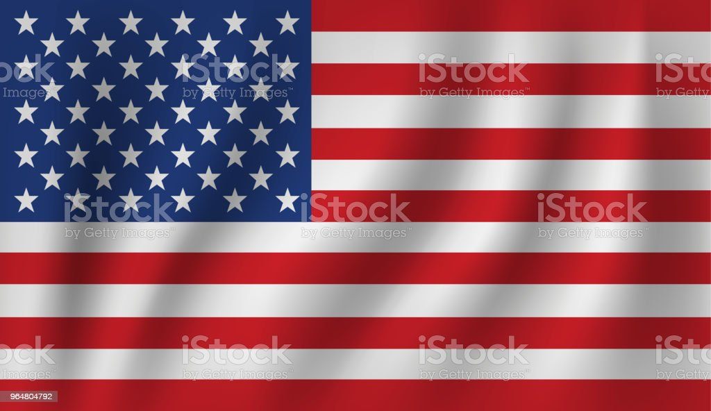 vector of ripple us flag royalty-free vector of ripple us flag stock illustration - download image now