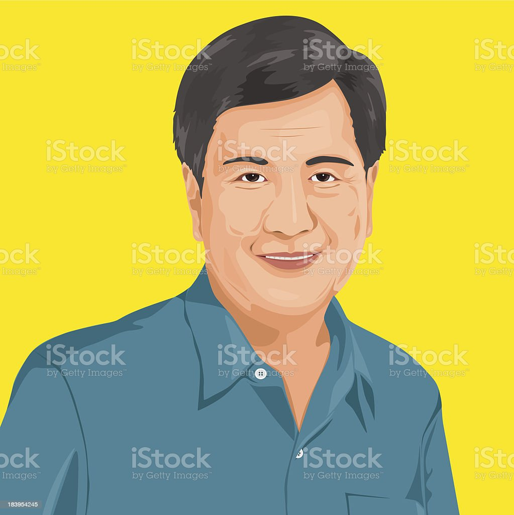 Vector of Senior Adult Portrait royalty-free vector of senior adult portrait stock vector art & more images of 50-54 years