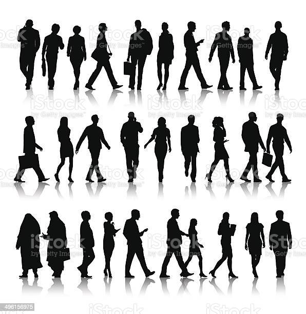 Vector of silhouette of business people commuting vector id496156975?b=1&k=6&m=496156975&s=612x612&h=azqeljmoaptrbvmexqhxgxrg8pauo3zwgfhc2mxvzjs=