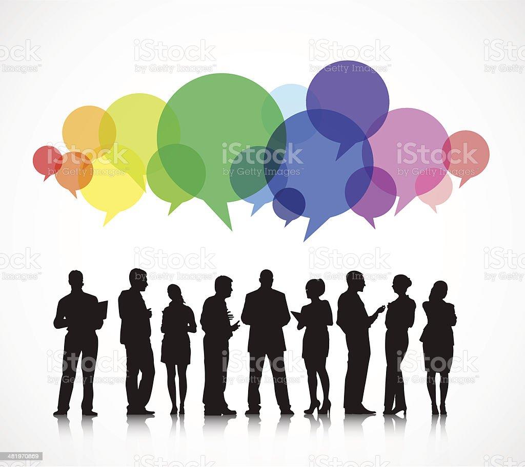 Vector of Social Business Gathering vector art illustration