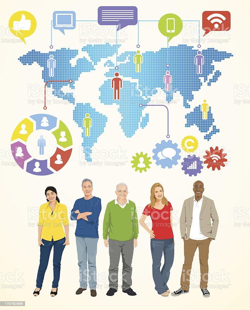Vector of Social gathering vector art illustration