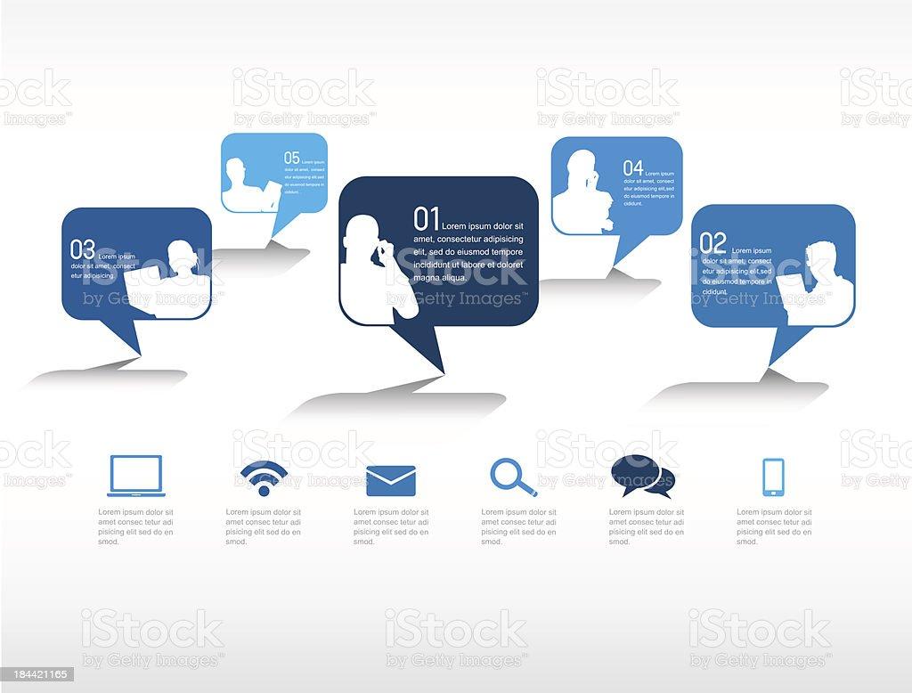 Vector de redes sociales - ilustración de arte vectorial