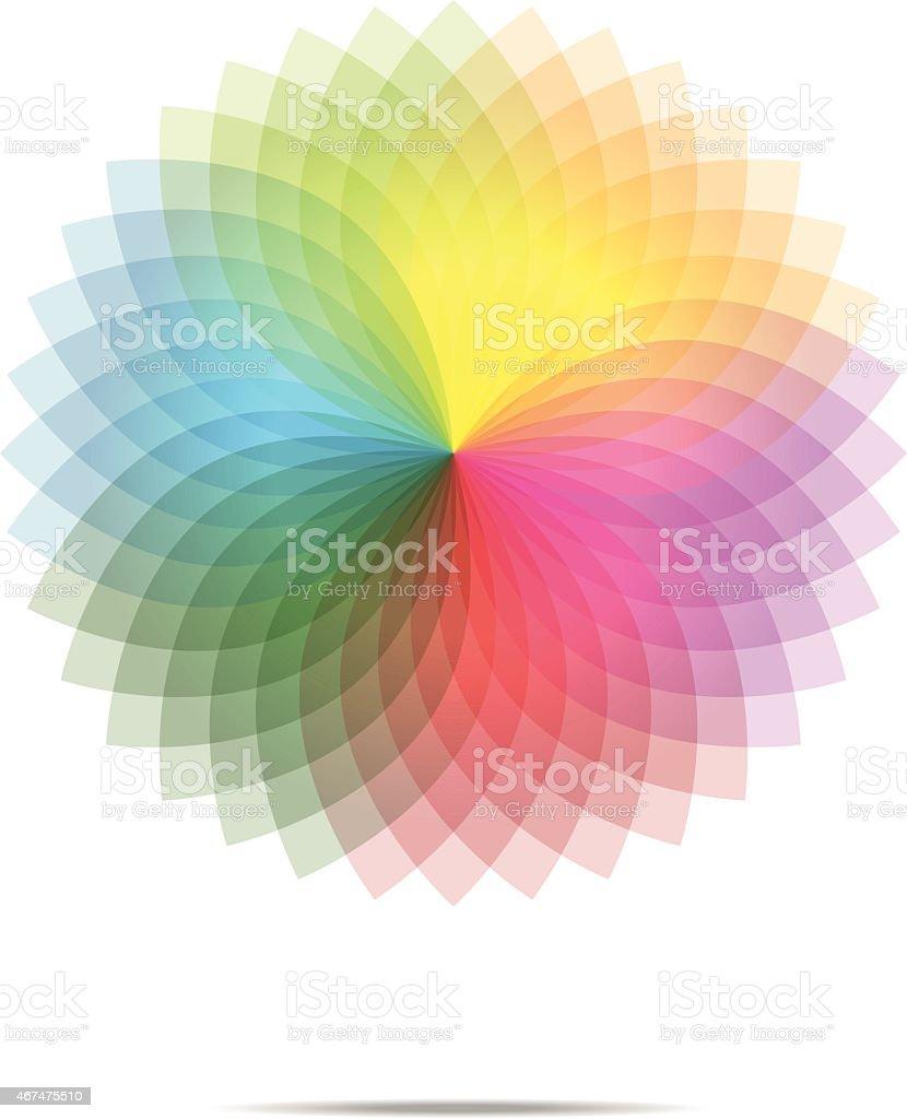 Vector of spectrum spirograph abstract background vector art illustration