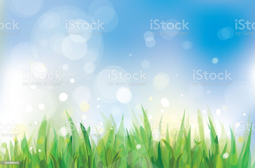 Vector of spring landscape. royalty-free stock vector art