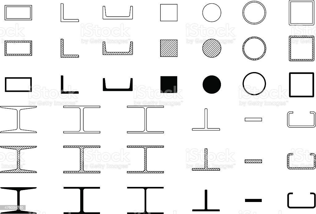 vektoricons von stahl stock vektor art und mehr bilder von. Black Bedroom Furniture Sets. Home Design Ideas