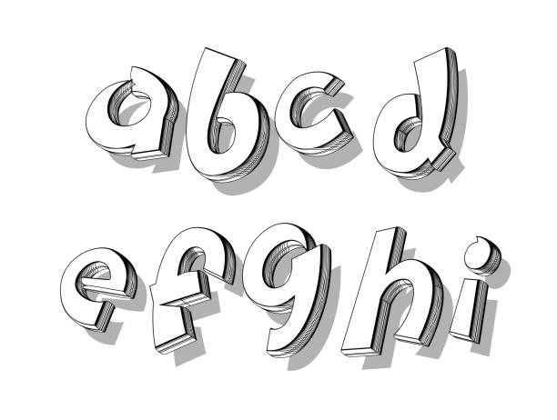 ilustraciones, imágenes clip art, dibujos animados e iconos de stock de vector de los alfabetos de garabatos juguetones - tipos de letra de historietas