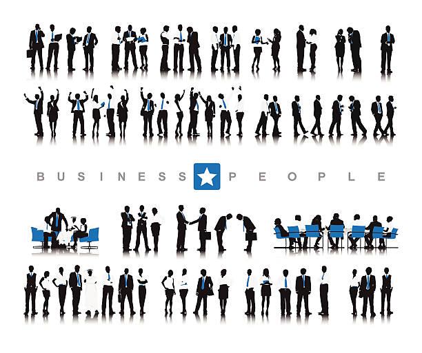 ベクトルの成功のビジネス人々の作業 - お礼点のイラスト素材/クリップアート素材/マンガ素材/アイコン素材