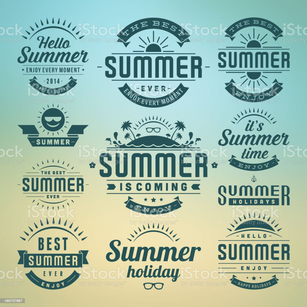 Vector of summer time celebrations vector art illustration