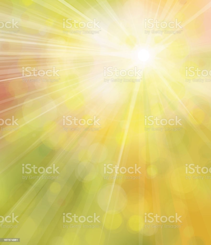 Vector of sunshine background. royalty-free stock vector art