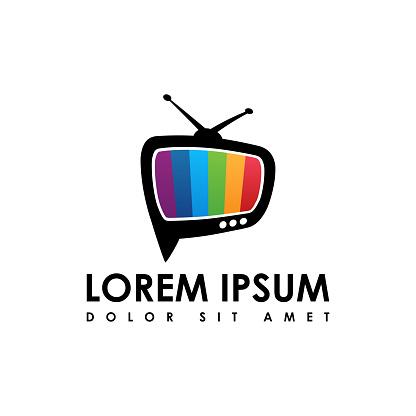 vector of television icon, flat design tv icon