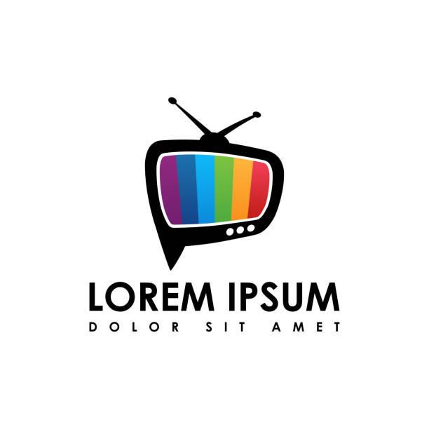 vektor des tv-ikone, flaches design tv-symbol - film oder fernsehvorführung stock-grafiken, -clipart, -cartoons und -symbole