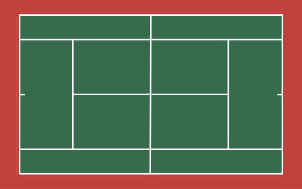 vektor der tennis-gericht-vorlage - wimbledon stock-grafiken, -clipart, -cartoons und -symbole