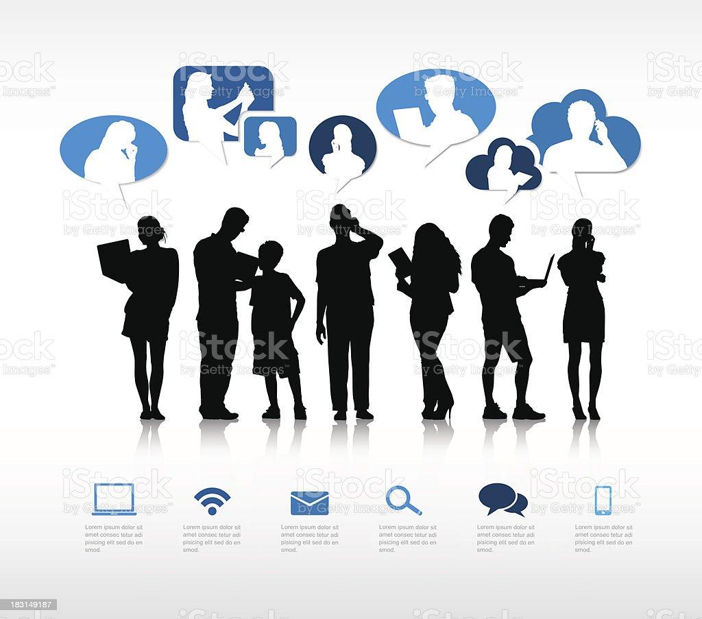Vector of The Social Gathering vector art illustration
