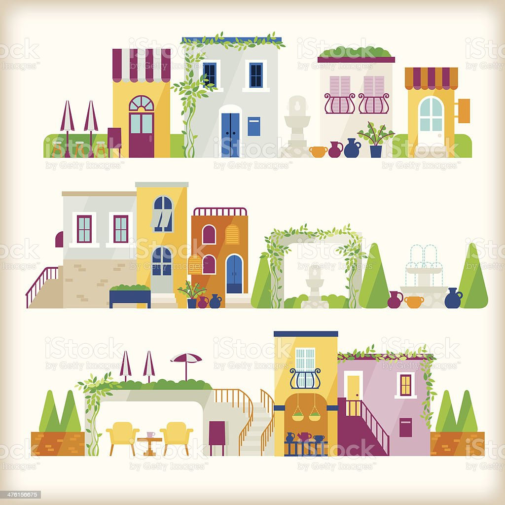vector of town royalty-free stock vector art