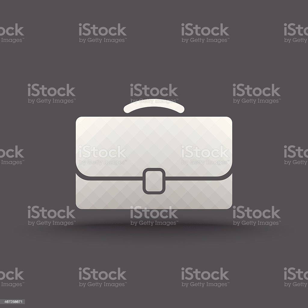 Vector of transparent business briefcase icon royalty-free stock vector art