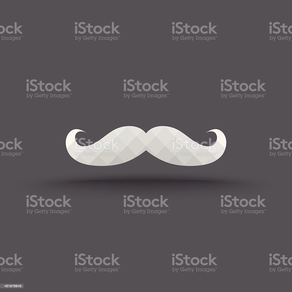 Vector of transparent mustache icon royalty-free stock vector art
